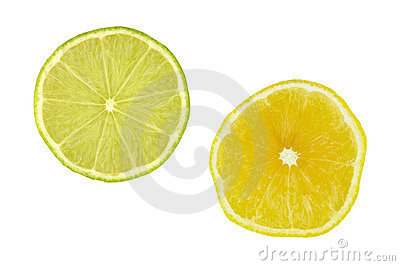 Lime and lemon slices