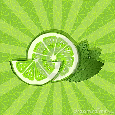 Lime and mint background