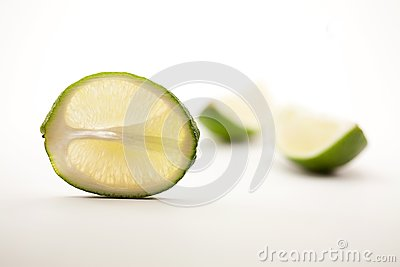 Lime Slice and Two Quarter Segments