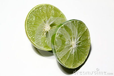Lime split in half