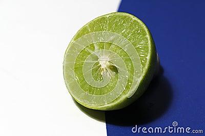 Lime split in half