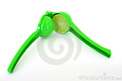Lime in squeezer