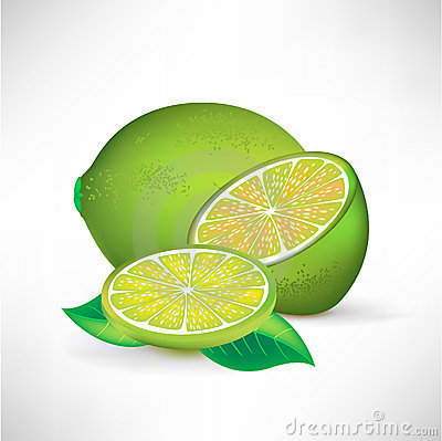Lime whole half and slice