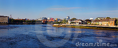 Limerick city and Shannon river