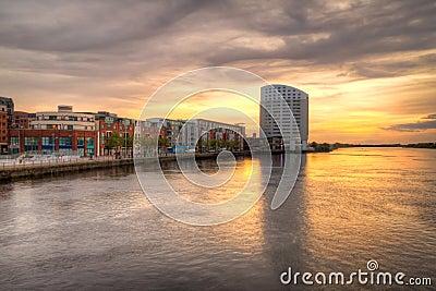 Limerick city sunset