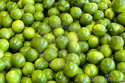 Limes in a bunch