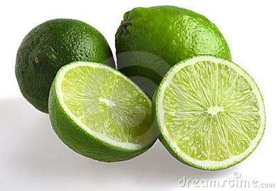 Limes with shadow