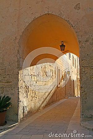 Limestone archway