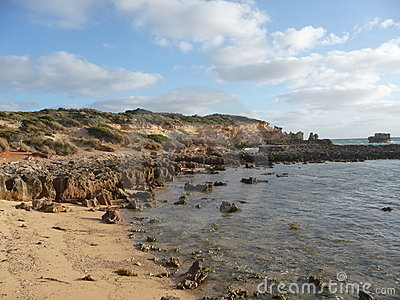 Limestone beach.