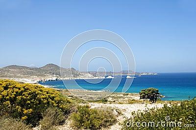 Limestone beach Mediterranean Sea Milos