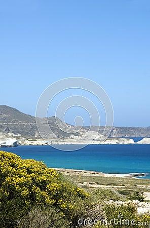 Limestone beach  Milos Greek Island Cyclades G