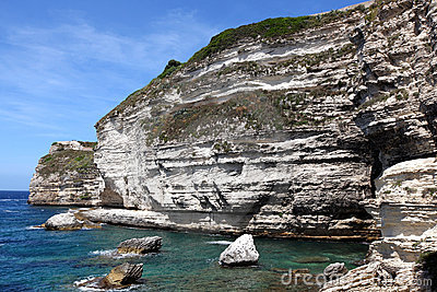 Limestone cliff bay