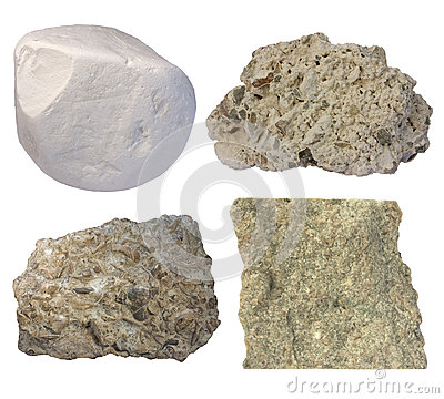 Free Limestone Collage (chalk, Tufa, Fossiliferous Limestone, Grainst Stock Photography - 32321242