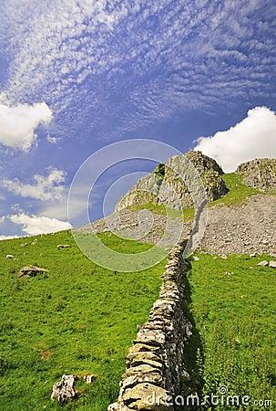 Limestone dry Stone wall, Yorkshire