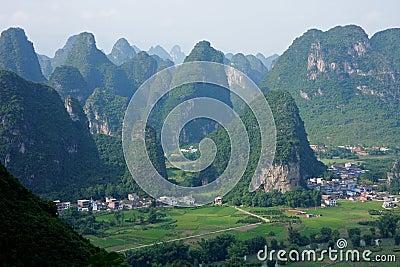 Limestone hills, China