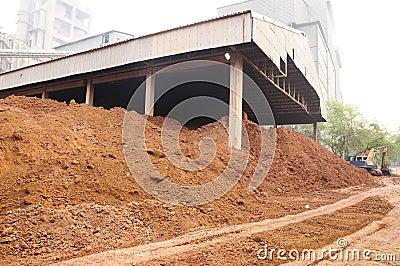 Limestone mining and transportation
