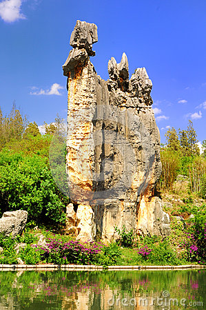 Limestone named  A-Shi-Ma at Stone Forest in Kunming Yunnan China