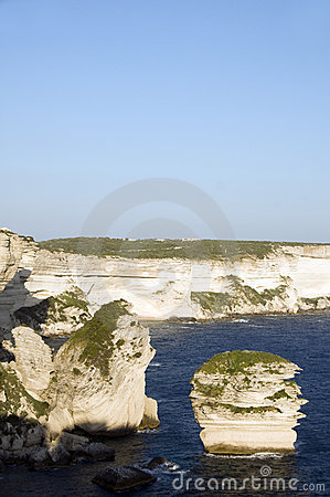 Limestone rock formation bonifacio corsica