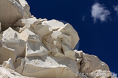 The limestone rocks.