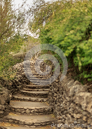 Free Limestone Staircase Stock Photography - 85811032