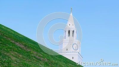 Limite della citt? Metraggio di riserva Parete e torre del Cremlino Vista del Cremlino della città nella città antica video d archivio