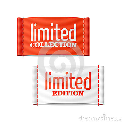 Limited collection and edition labels