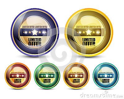 Limited Offer Button set