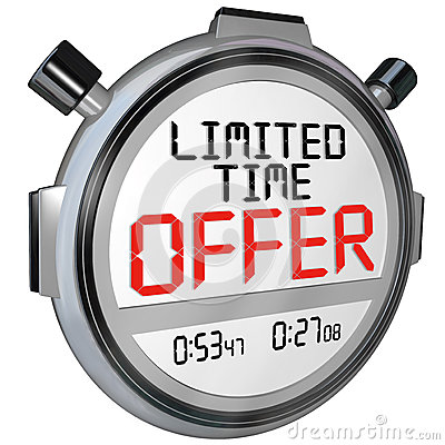 Free Limited Time Offer Discount Savings Clerance Event Sale Stock Image - 34058621