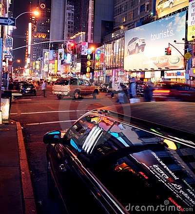 Limo in New York Editorial Photography