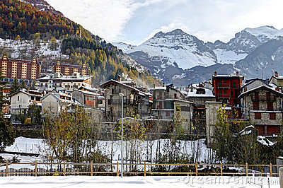 Limone Piemonte, Italy. Ski resort near France.