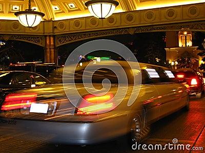 Limosine à l hôtel de casino Photographie éditorial