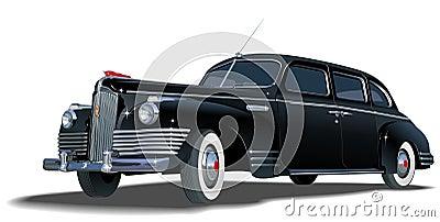 αναδρομικό διάνυσμα limousine