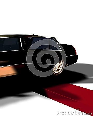 Limousine avec du tapis rouge 10