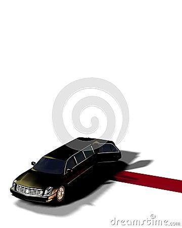 Limousine avec du tapis rouge 2