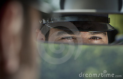 Limousine Chauffeur Stock Photo