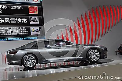 Limousine de concept de métropole de Citroen Image stock éditorial
