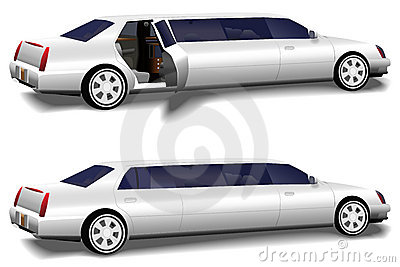 Limousine Limo Doors Open & Closed