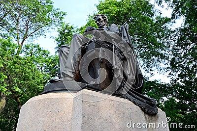 Lincoln in het Park van de Toelage