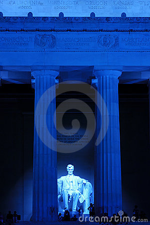 Free Lincoln Memorial At Night Stock Photography - 3221722