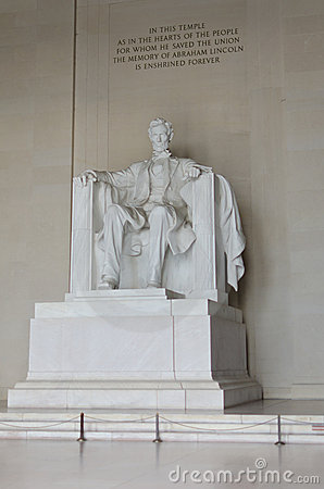 Lincoln Memorial close-up, Washington DC USA