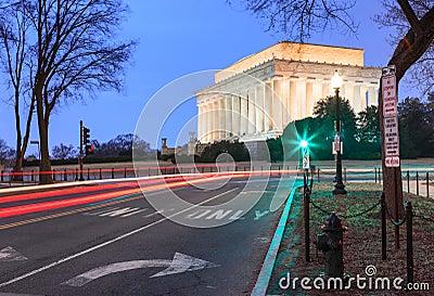 Lincoln Memorial, Light Trails, Washington DC