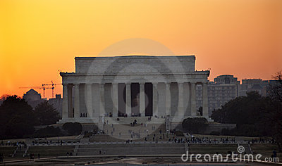 Lincoln Memorial Washington DC Sunset