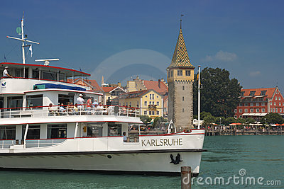 Lindau, Lake Constance, Germany Editorial Stock Photo