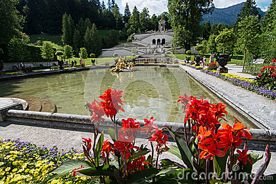 Linderhof garden, Bavaria, Germany Editorial Photo