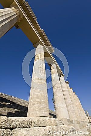 Lindos acropolis at Rhodes island, Greec