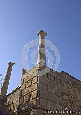 Lindos ancient acropolis at Rhodes island