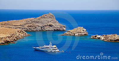 Lindos Bay.Rhodes Greece