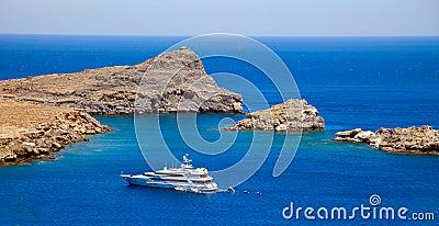 Lindos Bay.Rhodes Greece