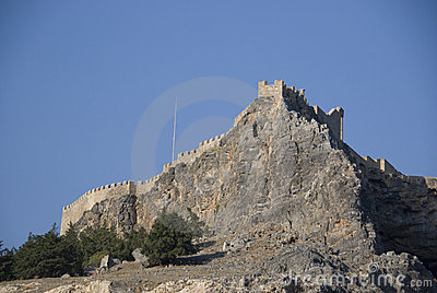 Lindos castle - greece