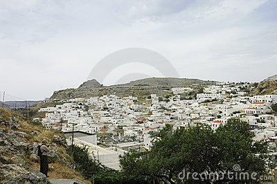 Lindos scenic view